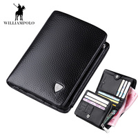Italian Wallet for Men Genuine Cow Leather High Quality New Cowhide Purse Trifold Designer Business 3 fold Card Holder Male bags