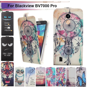 Fashion 11 Colors Cartoon Pattern Up and Down Flip PU Leather Case For Blackview BV7000 Pro
