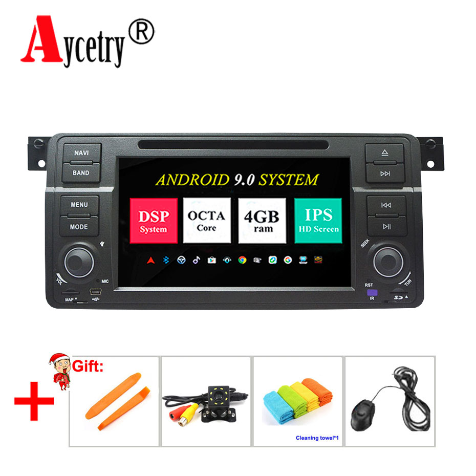 DSP IPS 4G RAM 8 Core Android 9 Car multimedia dvd player GPS navigation audio for BMW E46 M3 Rover 3 Series car Radio Stereo fm