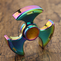 Rainbow Metal Fidget Spinner High Quality Hand Spinner For Autism And ADHD Rotation Time Long Anti