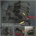 Car Styling Car Rear View Camera + 4 Sensors Car Resverse Parking Sensor Radar Detector For Alfa Romeo 156 / 159 / 166 / 147