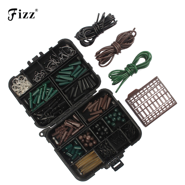 Carp Fishing Accessories Tackle Boxes with Boilie Bait Stops Fishhooks Swivels Connector Hook Sleeve Beads Stoppers Assorted