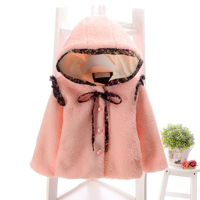 2017 autumn and winter new style girls baby cotton jacket children coat jacket children's fashion Wool hat Wool coats