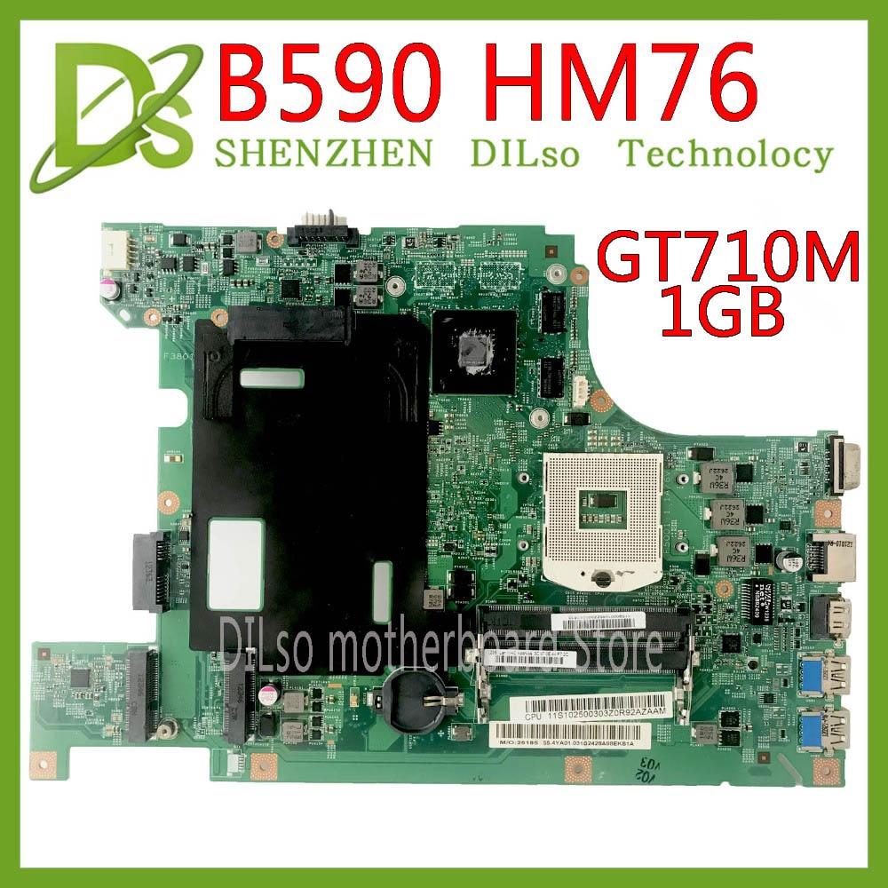 KEFU 11273-1 B590 Mainboard For Lenovo B590 B580 Laptop Motherboard 48.4TE05.011 HM76 GT710M 1G Test Work 100% Original