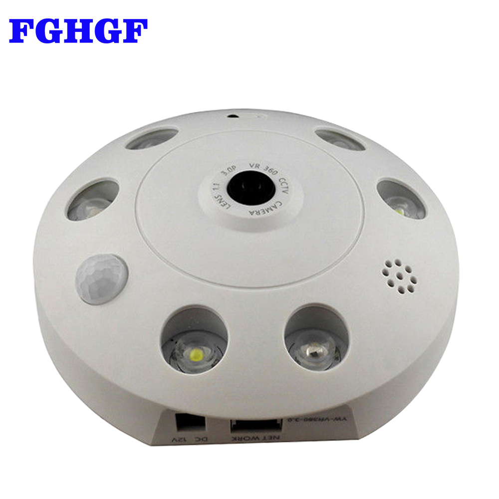 FGHGF IP Camera WiFi 360 Degree Wireless Home Security Camera Surveillance Camera 960P Baby Monitor Night Vision CCTV Camera