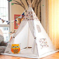 Tipi Baby Play Tent Toy Children Cotton Wood Cartoon Dream Tent House Brinquedos Para Bebe Tent