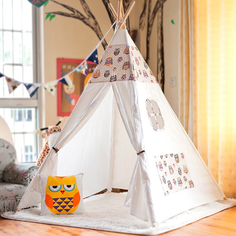 Tipi Baby Play Tent Toy Children Cotton Wood Cartoon Dream Tent House Brinquedos Para Bebe Tent For Kids OyuncaK Baby Toys hot sale eco friendly tent for kids cotton canvas toys tent