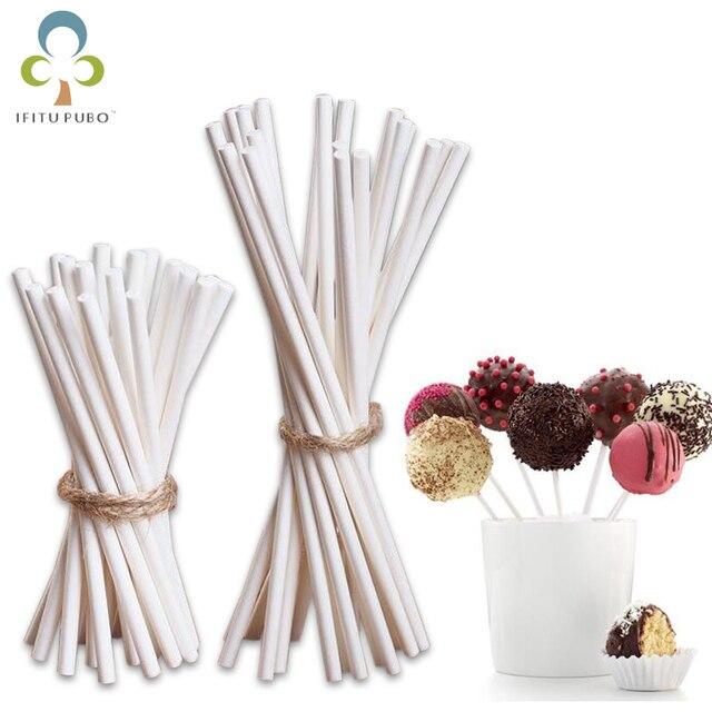 7 cm/14 cm Lollipop Bastone di Carta per Alimenti Pop Sucker Spiedi Torta Pop Sp