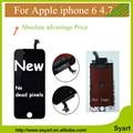 Grade aaa 4.7 polegada tela de substituição lcd para iphone 6 Display Com Tela de Toque Digitador Assembléia Branco LCD Preto para iphone6