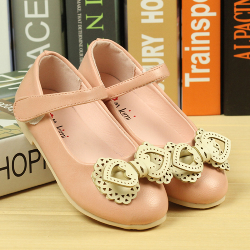 b5a8508de4757 Bow Party Girls Dress Shoes PU Leather Rubber Toddler Sandals Wedding  Children Sneakers Tenis Chaussure Enfant Yeezy Boost 350-in Sneakers from  Mother ...