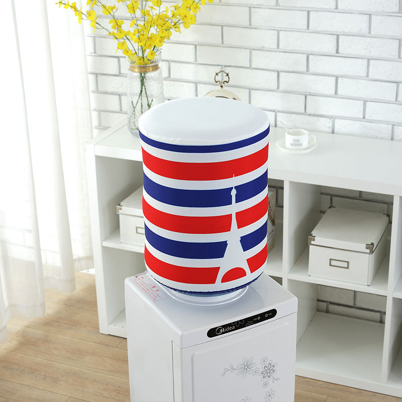 Polyester Printed Water Dispenser Dust Cover Korean Cartoon Floral Creative Drinking Fountains Water Dispenser Cover