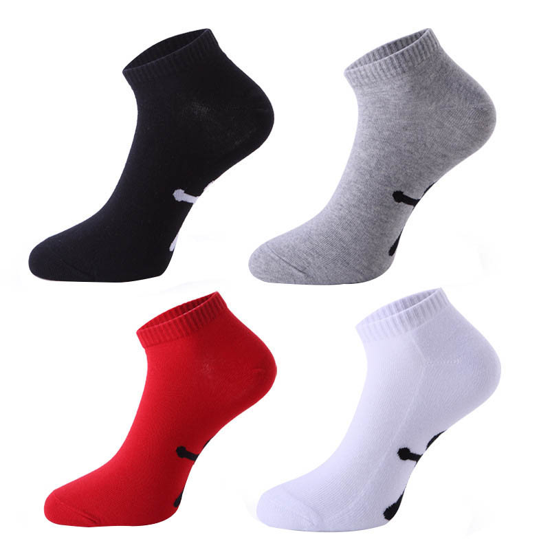 4 Pairs Men Socks This Life Year Red Personalized Sox Step On The Ankle Fashion Red Black White Gray Socks Wedding Vintage Socks