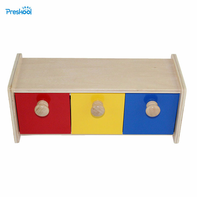 Montessori Infant Kids Toy Baby Wood Colorful Drawer Box Learning Educational Preschool Training Brinquedos Juguets 24 months