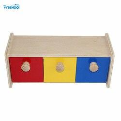 Montessori Infantile Per Bambini Giocattolo di Legno Del Bambino Colorato Cassetto Scatola di Apprendimento Educativo Prescolare Formazione Brinquedos Juguets 24 mesi