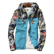 Womens Hooded Jackets 2020 Spring Causal Flowers Windbreaker Women Basic Jackets Coats Zipper Lightweight Jackets Bomber Famale