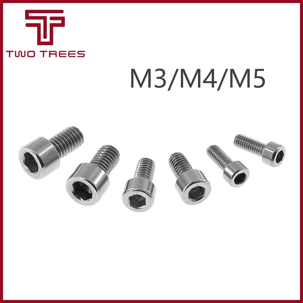 M3 Carbon Steel Metric Thread Hexagon Socket Cap Head Screw Bolt 10Pcs
