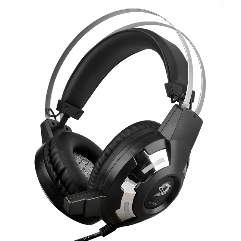 Professional Gamer Headphones Dual USB 3.5mm Jack Wired Computer Game Stereo Headset with LED Microphone Black for PS4/PC/Mac each g8200 gaming headphone 7 1 surround usb vibration game headset headband earphone with mic led light for fone pc gamer ps4