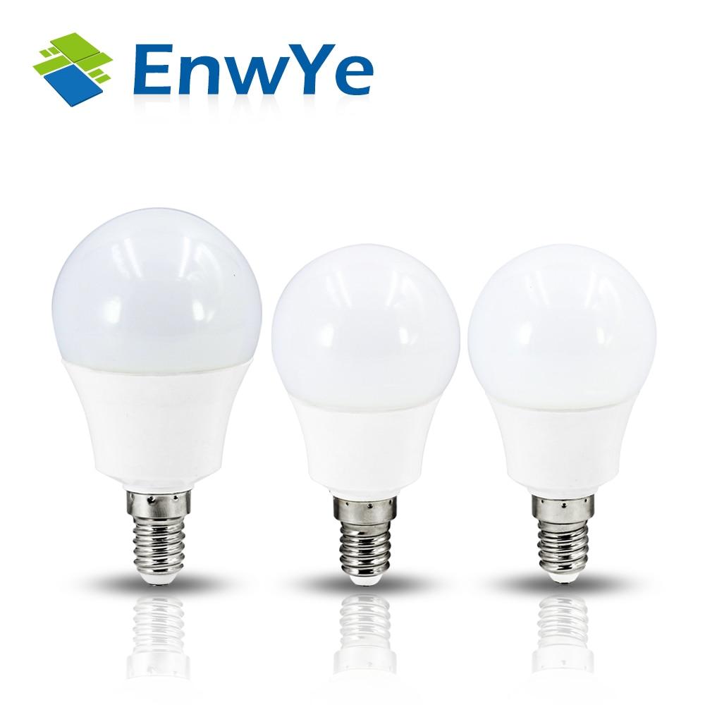 EnwYe LED Lamp SMD 2835 LED E14 Light Bulb 220V 3W 6W 9W 12W Cold Warm White Led Spotlight Lamps Lampada Highlight