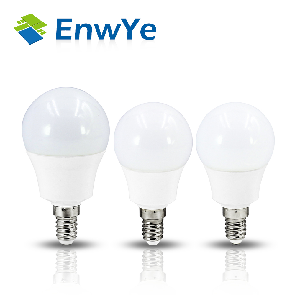 EnwYe LED lamp SMD 2835 LED E14 Light Bulb 220V 4W 6W 7W 9W 12W Cold Warm White Led Spotlight Lamps Lampada Highlight 5pcs e27 led bulb 2w 4w 6w vintage cold white warm white edison lamp g45 led filament decorative bulb ac 220v 240v