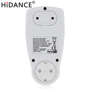HiDANCE AC الطاقة متر 220v الرقمية مقياس الواط الاتحاد الأوروبي مقياس الطاقة واط مراقب تكلفة الكهرباء مخطط قياس المقبس محلل