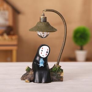 Image 4 - สตูดิโอGhibli Spirited Awayไม่มีFace Man LED Night Light Miyazaki Hayao Kaonashi Touchโคมไฟอ่านหนังสือเด็กห้องนอนตกแต่ง