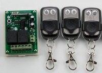 NEW DC12V 2CH 10A Radio Controller RF Wireless Push Remote Control Switch 315 MHZ 433 MHZ