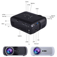 Portable Wifi Projectors 1080P Android4.4 HD 7000Lumens Movie Media Player Home Theater Projector For Video Game TV IJS998