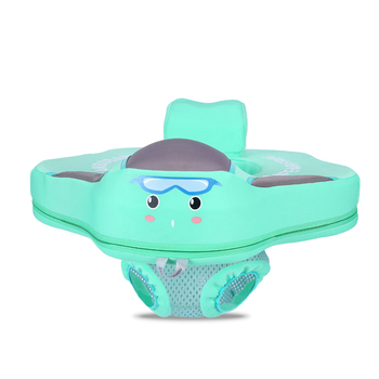 Non-Inflatable Baby Swim Floating Seat Ring Floats Child Floater Infant Swimming Ring Float Pools Water Fun Accessories Toys - Green