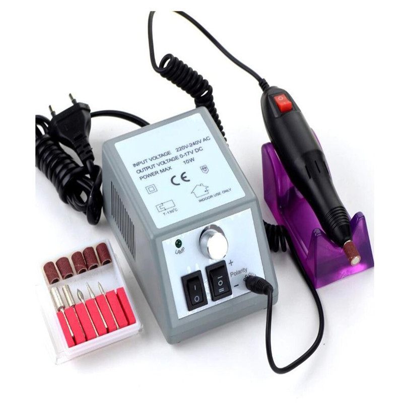 1Set 2000RPM Powerful Electric Manicure Manicure Drill Nail File Bits Pedicure File Tips Polishing Shape Nail Art Tool Kit CO984 electric nail drill machine manicure pedicure portable nail art tools strong polishing machine cutter drill file bits set nails