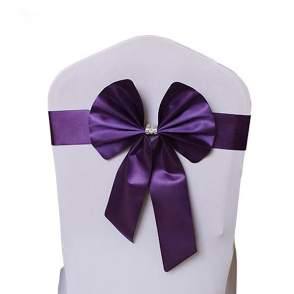 Noeud de Chaise Mariage Sashes узел бант на свадебный стул галстук украшение Stuhl Schleifen Hochzeit ssarfa Fajin Stoel Sjerp - Цвет: 005