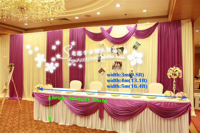 ₪Wedding Table Cover Wedding table decorations deluxe marriage Table ...