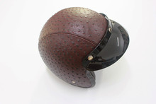 Brown Adult Open Face Half Leather Helmet Harley Moto Motorcycle Helmet vintage Motorcycle Motorbike
