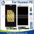 Negro blanco original del lcd del teléfono móvil para huawei p6 4.7 pulgadas lcd deseo pantalla táctil digitalizador asamblea