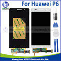 White Black Original Mobile Phone LCD For Huawei P6 4.7 inch LCD wish Touch Screen Digitizer Assembly