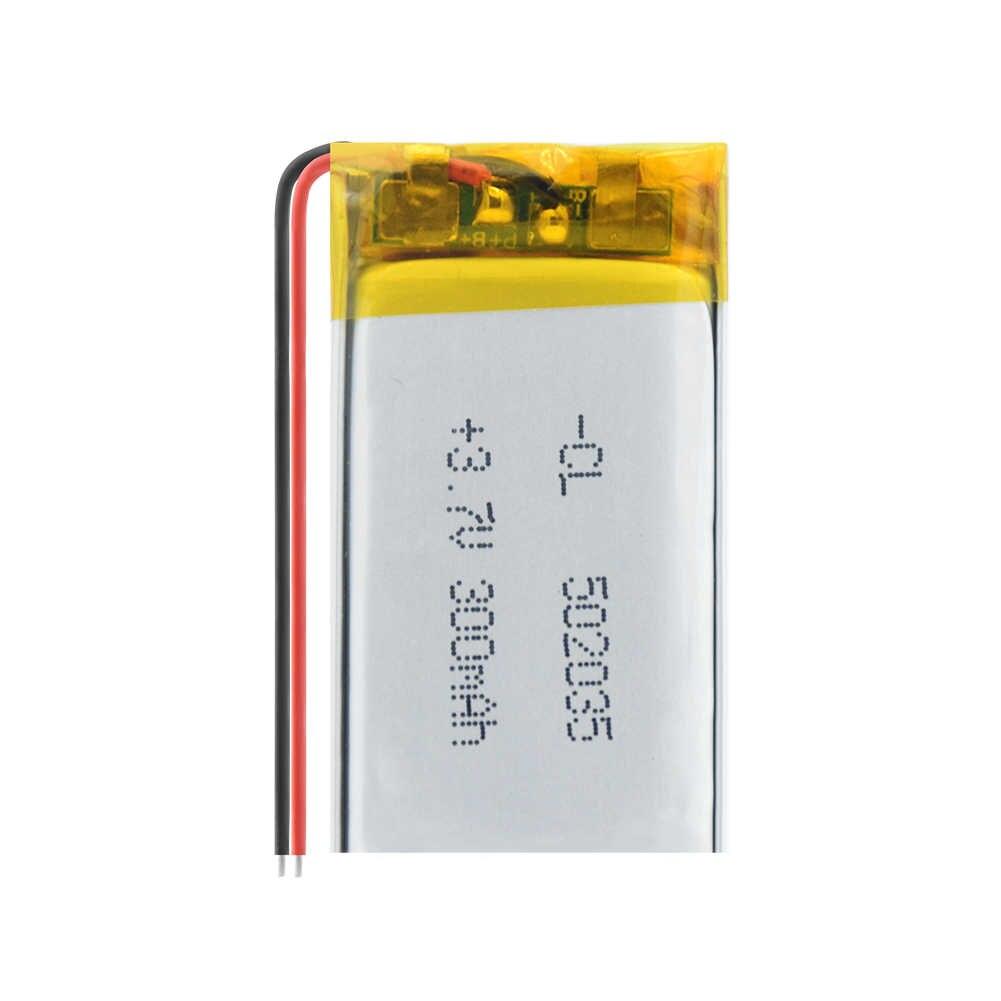 電源リチウム電池リチウムポリマー 502035 300mah 3.7 v充電式バッテリーMP3 MP4 MP5 gps pspのmid bluetoothヘッドセット