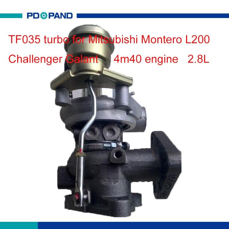Автоматический Турбокомпрессор TF035 турбонагнетатель для MITSUBISHI Montero L200 Challenger Galant 4M40 2.8L4913503100 4913503101 4913503110