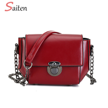 SAITEN Vintage Crossbody Bags For Women Casual PU Leather Flap Female Small Women's Shoulder Bags Ladies Shopping Bag Sac a main
