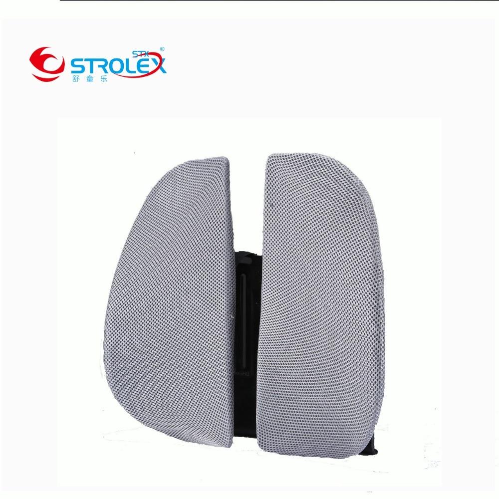 Auto Bureaustoel Rugleuning Lendensteun Ontspanning Ergonomische Kussen Ademend Taille Zorg Pad 45*38*33 Cm