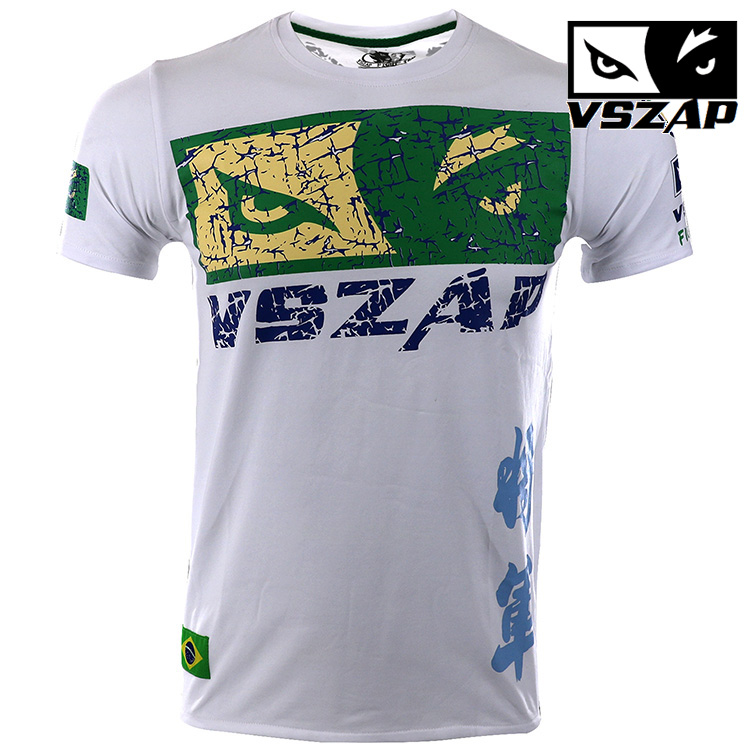 VSZAP Warrior Boxing MMA T Shirt Gym Tee Shirt Fighting Fighting Martial Arts Fitness Training Muay Thai T Shirt Men Homme