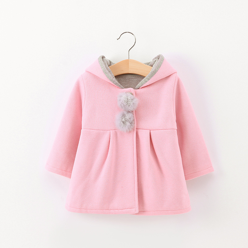 Girl's clothes stars print hooded baby girl coat new stars cotton warm children's jacket children's clothing baby girl coat