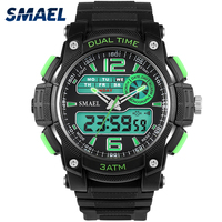 Men Sports Watches Digital 30M Waterproof SMAEL Brand Watch With Gift Box Durable Rubber Strap Wristwatch