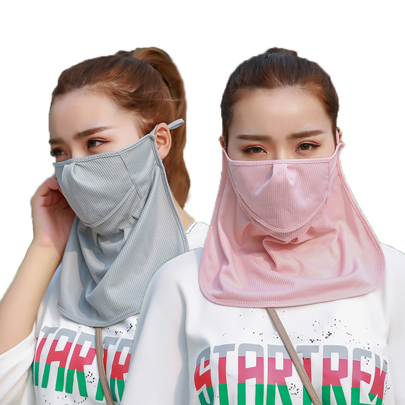 New Golf Sunscreen Masks Womans Golf Uv-blocking Mouth Mask Protection Neck Face Sports Wear Korea Cotton Breathable 1pcs