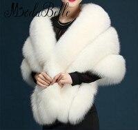White Faux Fur Wrap Evening Stoles And Wraps Faux Fur Shrug Wedding Jacket Bolero Wedding Bolero