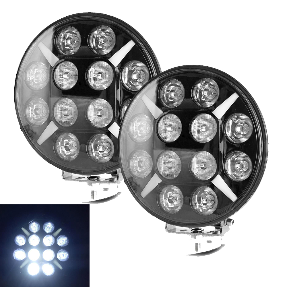9 Inch Offroad LED Work Light Bar Combo Beam 120W For Jeep ATV UAZ SUV 4WD 4x4 Truck Tractor LED Work Light With DRL