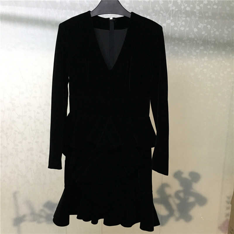 Black Dress for Women Long Sleeve Sheath Sexy Fashion Elegant Dress for party 2018 new Lady Dress