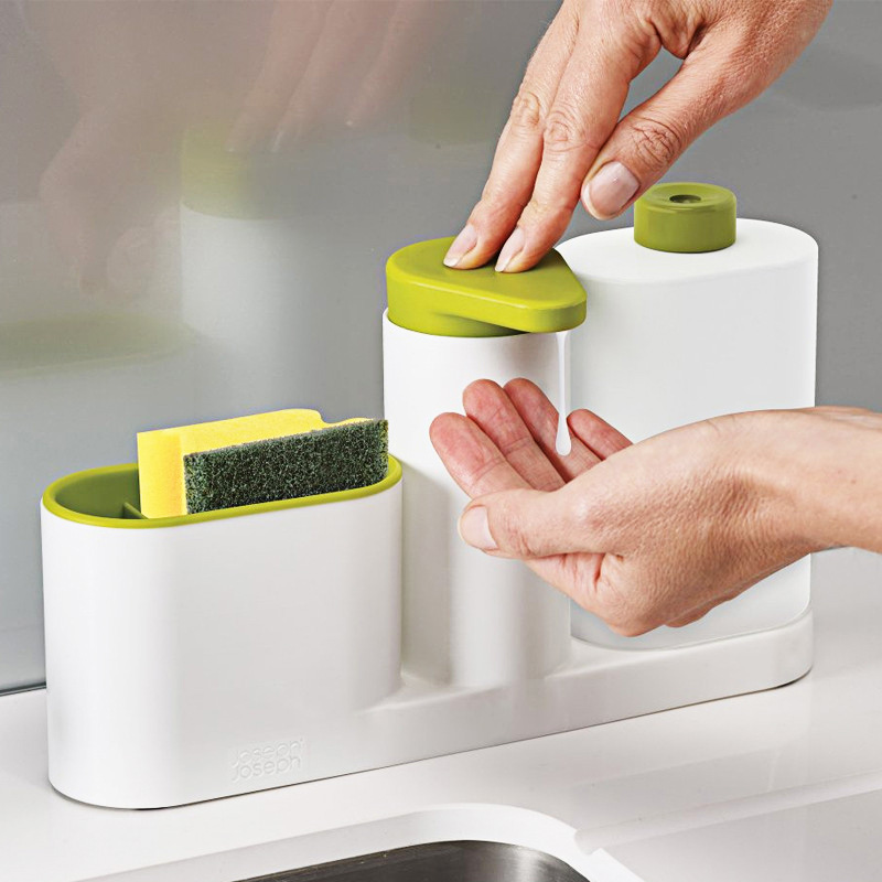 ABS Compact  Soap Pump Kitchen Detergent Container Bathroom Shampoo Bottle 350ml Liquid Soap Automatic Hand Wash Dish Dispenser