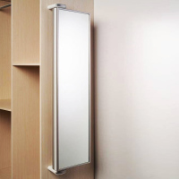 Intelligent WIFI wardrobe cabinet hidden rotating body mirror wall mounted with shelf full body fitting mirror