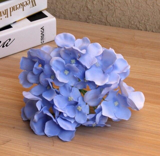 APRICOT Silk flower Wedding Decoration Artificial flowers Spring vivid Big Hydrangea wedding flowers decoration 15colors 4