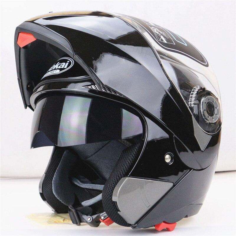 Nouveautés Meilleures Ventes Safe Flip Up Casque de Moto Avec Visière Soleil Intérieur Tout Le Monde Abordable À Double Lentille Moto Casque