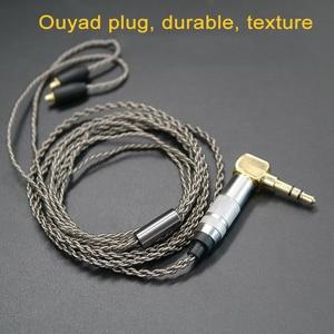 Image 5 - שדרוג DIY MMCX אוזניות סטריאו בס HIFI אוזניות אוזניות Ouyad תקע כסף ציפוי קו עבור Shure SE215 SE425 SE535 SE846